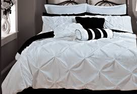 bedding bed linens sets pintuck white room duvet cover set bedding set single double king
