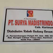 Perusahaan ini berdiri pada tahun 2001, dan sejak itu sudah aktif beroperasi di sektor bisnis penjualan, distribusi. Pt Surya Madistrindo Kantor Perusahaan