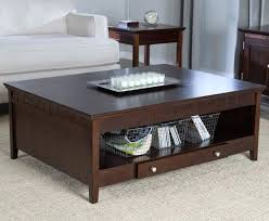 coffee table design amazing dark wood chunky oak sofa with storage drawers tables startling shelf solid