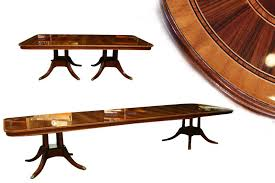 large 14 foot double pedestal dining table seats 16 people extra long hgh end inlaid dining table