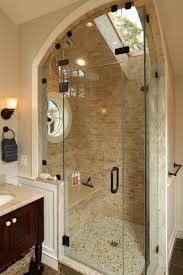 To preserve space, many will place their walk-in shower in the corner of  the master bathroom. If you do, perhaps you might like to try something  like the ...