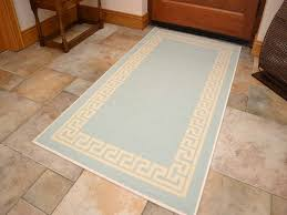 details about small large duck egg blue door hall runners kitchen floor rug anti slip back mat