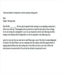 Employee Warning Letters Template Sample Of Written Warning Letter Template For Misconduct Rhumb Co
