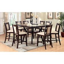 furniture of america mullican counter height display top dining table dark cherry ivory hayneedle