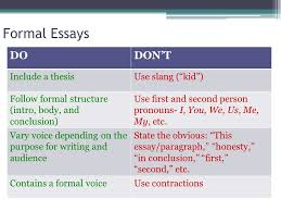 formal and informal writing considering your audience ppt 3 formal essays