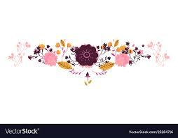 Vintage Floral Pattern For Wedding Cards