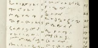 sir isaac newton s cambridge papers added to unesco s memory of  the notebook of isaac newton showing code writing listing