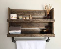 pipe towel bar rustic shelf