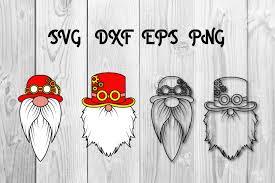 Steampunk Gnomes Svg Cut Files Christmas Graphic By Dadan Pm Creative Fabrica