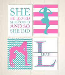 pre teen girls wall art gymnastics wall art girls gymnast monogram wall art motivational art choose your sports and colors set of 4 on teenage girl wall art with pre teen girls wall art gymnastics wall art girls gymnast