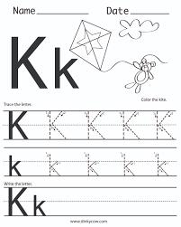 K Free Handwriting Worksheet Print Jpg