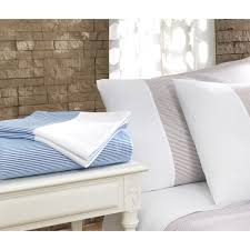 chevas luxury stripe 100 percent turkish cotton 5 piece duvet cover and sheet set white blue pencil stripes