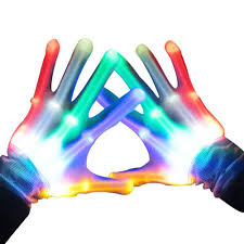 Light Up Gloves Amazon Skl Light Up Led Skeleton Hand Gloves Pair Of 1 Multicolor