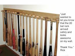 vertical style baseball bat rack