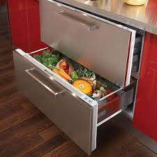 refrigerator drawers. hotpoint ncd191i 90cm wide integrated fridge drawers - stainless steel refrigerator f