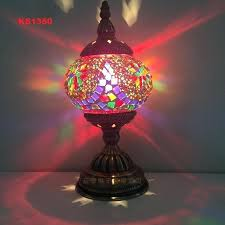 style art mosaic table lamp handcrafted glass romantic bed light turkish lamps uk full size
