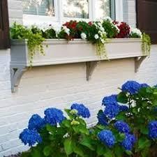 Decorative Window Boxes Decorative square pvc planter with vertical and horizontal trim 60