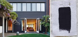 T Best Exterior Black House Paint Colors Benjamin Moore Carbon Copy  Gardenista