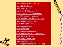 SONGS AND RHYMES IN ENGLISH LESSONS - ppt video online download