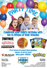 Birthday Flier Pro Gamers And Collectables
