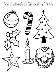 Small Picture Symbols of Christmas Coloring Page