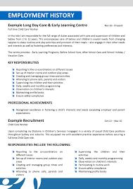 Child Caregiver Resume Objective Virtren Com