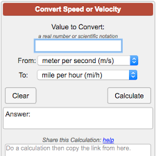 Rpm Conversion Chart Speed Conversion Calculator