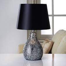 279036 ava mosaic table lamp black