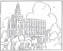 Small Picture St George Temple Coloring Page from Mormon History Coloring Book