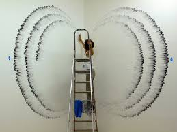 painting on the wallAmazing Finger Paintings on Wall by Judith Braun  Home Design