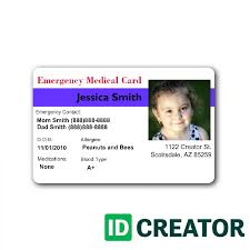 Printable For Templates Card Kids Id Free