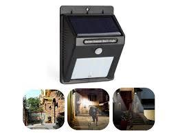 6 led solar power pir motion sensor wall light outdoor waterproof garden lamp