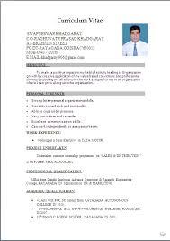 Resume For Job Application For Freshers Gentileforda Com