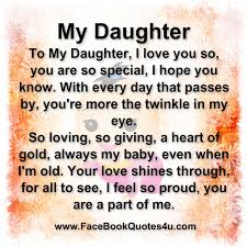 Facebook Quotes About Daughters FaceBook Quotes PJ Pinterest Amazing I Love My Daughter Quotes For Facebook