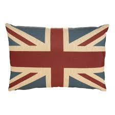 Cynara Union Jack Blue, Red & White Cushion | Departments | DIY at B&Q.