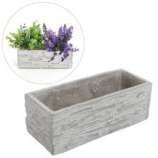Small Picture Amazoncom Gray Cement Rectangular Succulent Plant Flower Pot