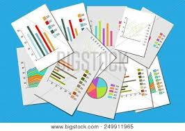 Modern Charts And Graphs Different Graphs Vector Photo Free Trial Bigstock