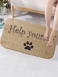 dog paw print antislip rug btm03882