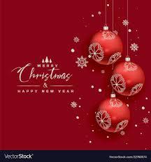 Beautiful Christmas Design Beautiful Christmas Balls Snowflakes Red Greeting