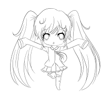 Small Picture Coloring Pages Anime Girl Coloring Pages Anime Coloring Pages