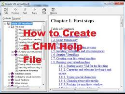 How to Create a CHM or Compiled HTML Help (.CHM) File - YouTube