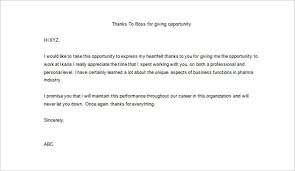 23 Thank You Letter To Boss Templates Free Sample Example Format