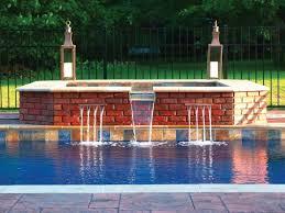 latham pool fiberglass pool spa combo with cascade