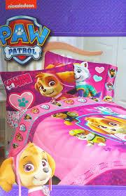 pink paw patrol twin comforter and three piece sheet set