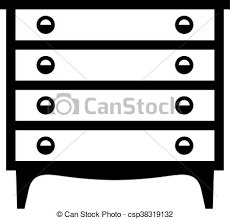 dresser clipart black and white. Simple White Dresser  Csp38319132 Throughout Clipart Black And White