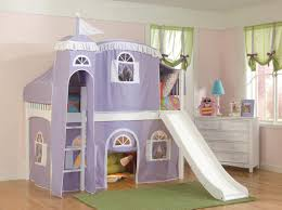 Castle Loft Bed Plans Girls Bunk Bed My Girls Bunkbeds Two Double Size Beds With Slide