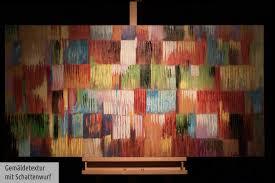 Abstrakt Bunt Kubismus Wandbild Acrylbild Moderne Kunst