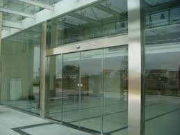 automatic partition sliding glass doors with aluminum fram