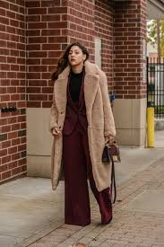 bear coat with a bold color you don t have to go overboard although kudos if you do but think rust orange burdy forest green or navy for winter