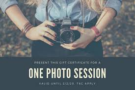 Gift Certificate Maker Free Delectable Customize 48 Photography Gift Certificate Templates Online Canva